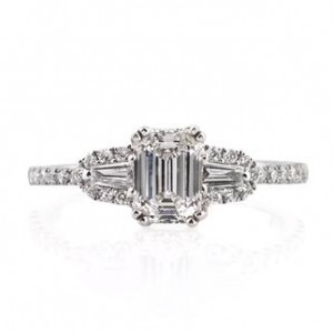 1.36ct Emerald Cut Diamond Engagement Ring | Mark Broumand
