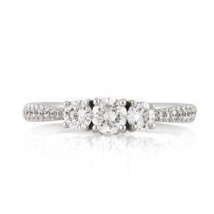 1.45ct Round Brilliant Cut Diamond Engagement Ring