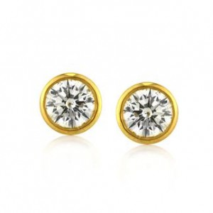 1.56ct Round Brilliant Cut Diamond Stud Earrings | Mark Broumand