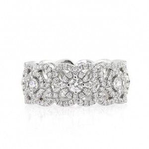 1.80ct Round Brilliant Cut Diamond Eternity Band | Mark Broumand