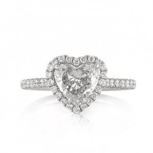 1.84ct Heart Shaped Diamond Engagement Ring | Mark Broumand