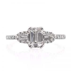 1.36ct Emerald Cut Diamond Engagement Ring
