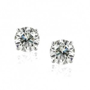 2.06ct Round Brilliant Cut Diamond Stud Earrings | Mark Broumand