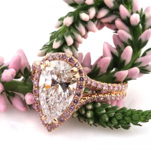 4.02ct Pear Shaped Diamond Engagement Ring | Mark Broumand