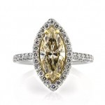 3.01ct Fancy Yellow Marquise Cut Diamond Engagement Ring | Mark Broumand