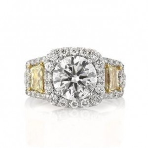 3.41ct Round Brilliant Cut Diamond Anniversary Ring | Mark Broumand