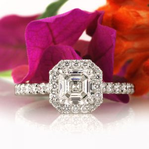 1.95ct Asscher Cut Diamond Engagement Ring | Mark Broumand