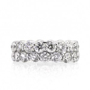 5.03ct Round Brilliant Cut Diamond Eternity Band | Mark Broumand