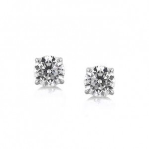 Traditional Round Brilliant Cut Diamond Stud Earrings | Mark Broumand