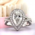 3.14ct Pear Shaped Diamond Engagement Ring | Mark Broumand