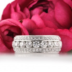 3.50ct Round Brilliant Cut Diamond Eternity Band | Mark Broumand