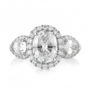 3.55ct Oval Cut Diamond Engagement Ring | Mark Broumand
