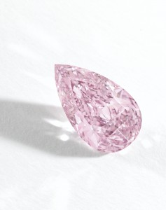 Side view of 8.41 Fancy Vivid Purple Pink Diamond