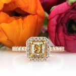 1.69ct Halo Fancy Yellow Radiant Cut Diamond Engagement Ring | Mark Broumand