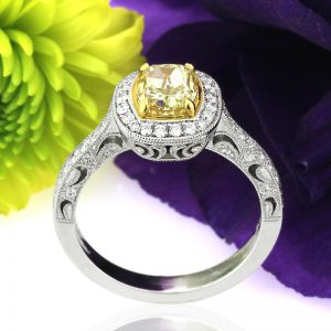 A Cushion Cut Diamond Engagement Ring to Capture Her Heart | Mark Broumand