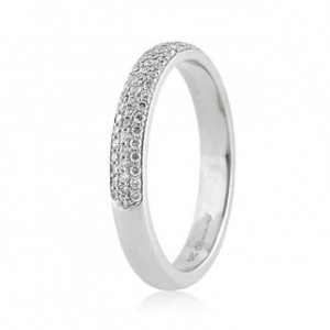 .40ct Micropave Round brilliant cut diamond wedding band in platinum