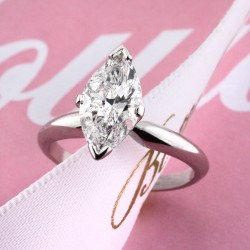 2.02ct Marquise Cut Diamond Solitaire Engagement Ring