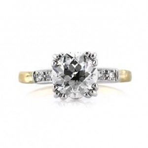 2.15ct Old European Round Cut Diamond Engagement Ring | Mark Broumand