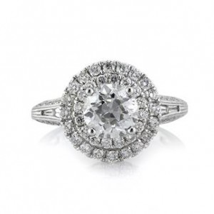 2.57ct Old European Round Cut Diamond Engagement Ring