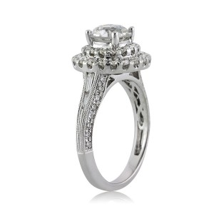 2.57ct Old European Round Cut Diamond Engagement Ring Side View | Mark Broumand