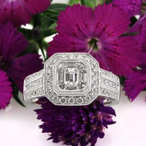 1.80ct Emerald Cut Diamond Engagement Ring | Mark Broumand