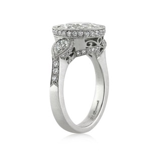 4.02ct Old European Cut Diamond Engagement Ring Side View | Mark Broumand