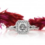 Asscher Cut Halo Engagement Ring