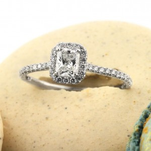 0.91ct Radiant Cut Diamond Engagement Ring | Mark Broumand