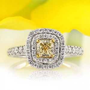 1.16ct Fancy Light Yellow Radiant Cut Diamond Engagement Ring | Mark Broumand