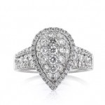1.59ct Round Brilliant Cut Diamond Teardrop Engagement Ring | Mark Broumand