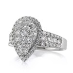 1.59ct Round Brilliant Cut Diamond Teardrop Engagement Ring Angle | Mark Broumand