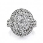 2.04ct Round Brilliant Cut Diamond Oval Shaped Engagement Ring | Mark Broumand