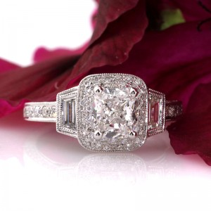 2.40ct Cushion Cut Diamond Engagement Anniverary Ring | Mark Broumand
