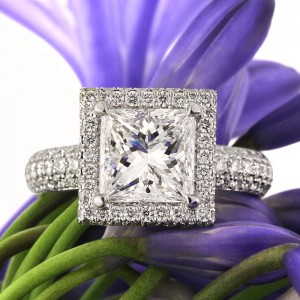 3.61ct Princess Cut Diamond Engagement Ring | Mark Broumand