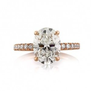 3.71ct Oval Cut Diamond Engagement Ring | Mark Broumand