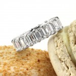 9.40ct Emerald Cut Diamond Eternity Band in Platinum | Mark Broumand