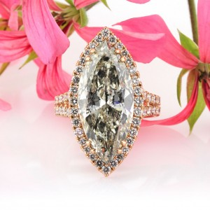 9.68ct Marquise Cut Diamond Engagement Ring | Mark Broumand