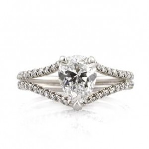 1.98ct Pear Shaped Diamond Engagement Ring Front