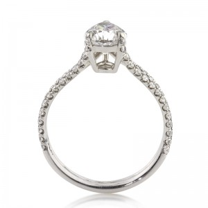 1.98ct Pear Shaped Diamond Engagement Ring Full Side