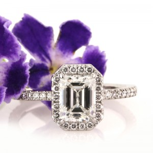 2.15ct Emerald Cut Diamond Engagement Ring | Mark Broumand