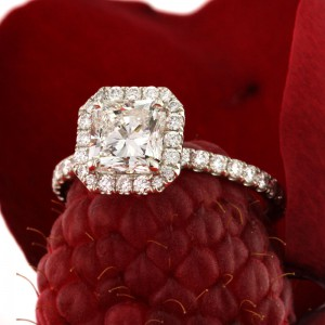 2.25ct Radiant Cut Engagement Ring | Mark Broumand