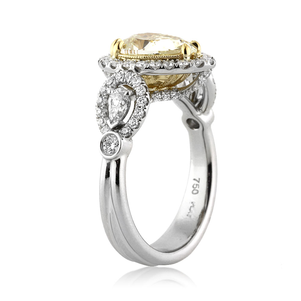 dk ring yellow gold ni rings solitaire diamond engagement shoulders with fancy