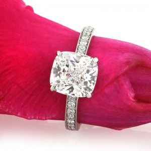 3.63ct Cushion Cut Diamond Engagement Ring | Mark Broumand