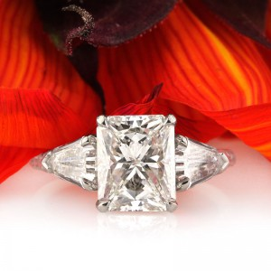 4.63ct Radiant Cut Engagement Ring | Mark Broumand