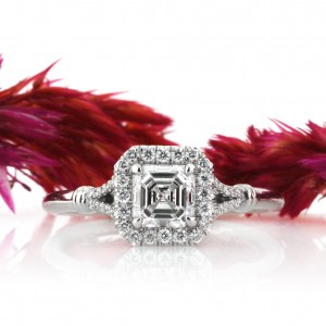 Bright Clarity in an Asscher Cut Diamond Engagement Ring | Mark Broumand
