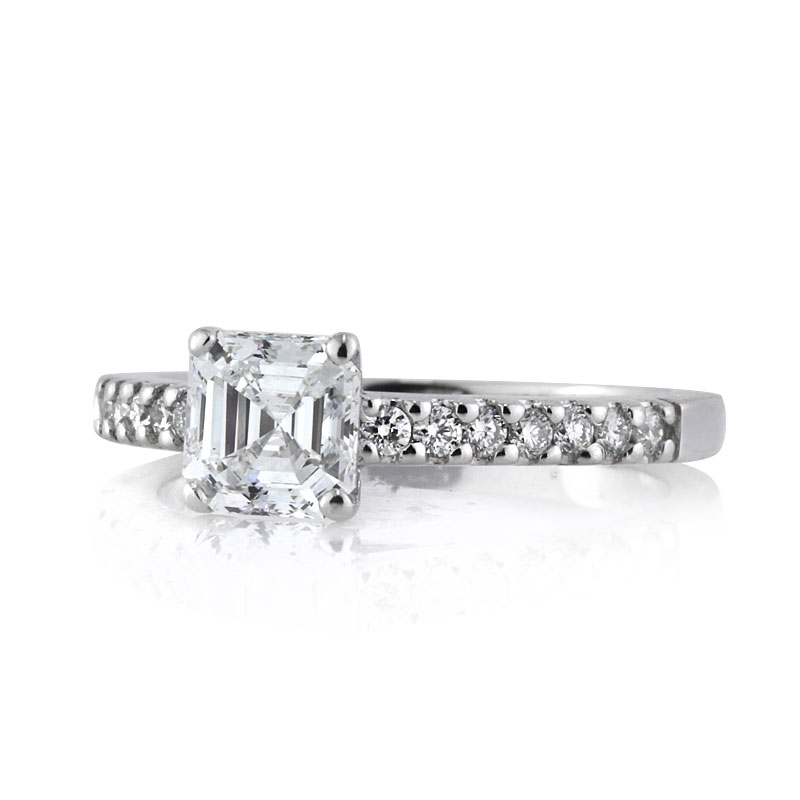 1.26ct Asscher Cut Diamond Engagement Ring Short Side | Mark Broumand