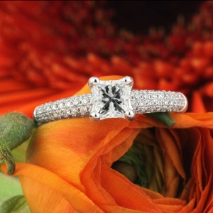1.45ct Princess Cut Diamond Engagement Ring | Mark Broumand