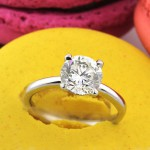 2.21ct Round Brilliant Cut Diamond Solitaire Engagement Ring | Mark Broumand