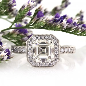 2.93ct Asscher Cut Diamond Engagement Ring | Mark Broumand