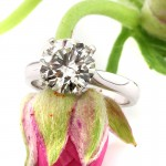 3.07ct Round Brilliant Cut Diamond Engagement Ring | Mark Broumand